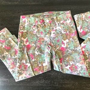 Tractr Youth Floral Skinny Jeans